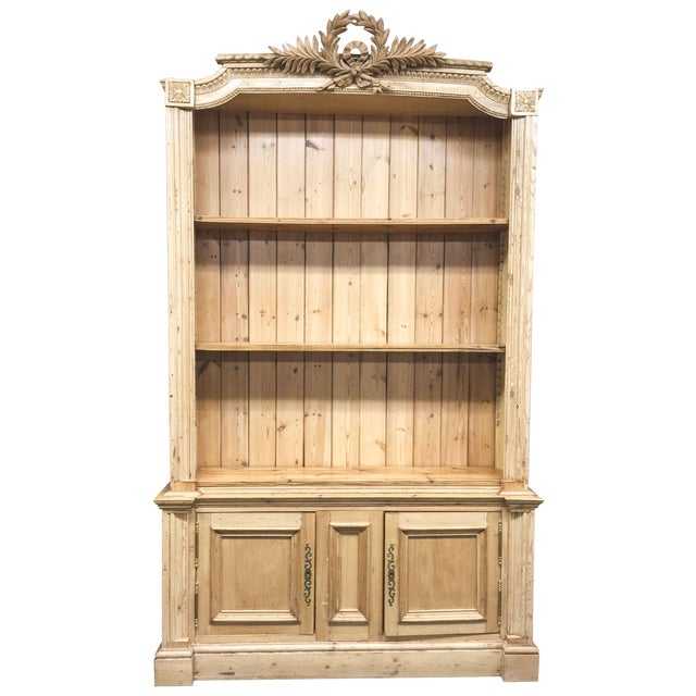 Antique French Pine Bookcase - Image 1 of 6