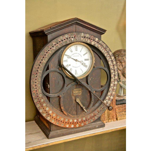 Traditional German Punching Clock 1920s For Sale - Image 3 of 10