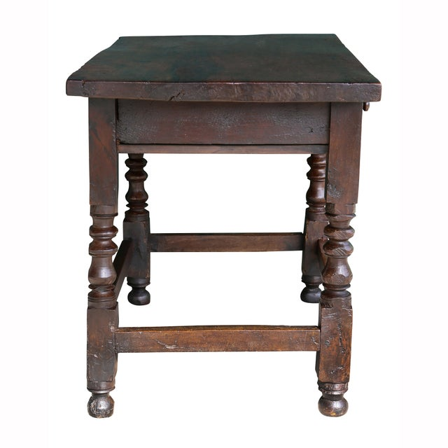 Wood Spanish Baroque Walnut Table For Sale - Image 7 of 10