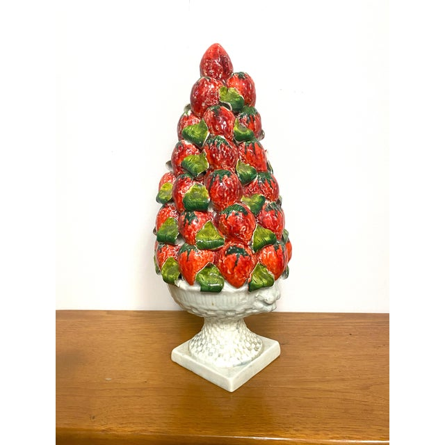 Vintage Italy Majolica Topiary Centerpiece For Sale - Image 9 of 9