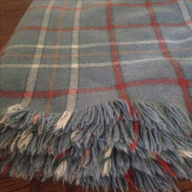 Vintage Plaid Wool Blend Blanket - Image 4 of 11