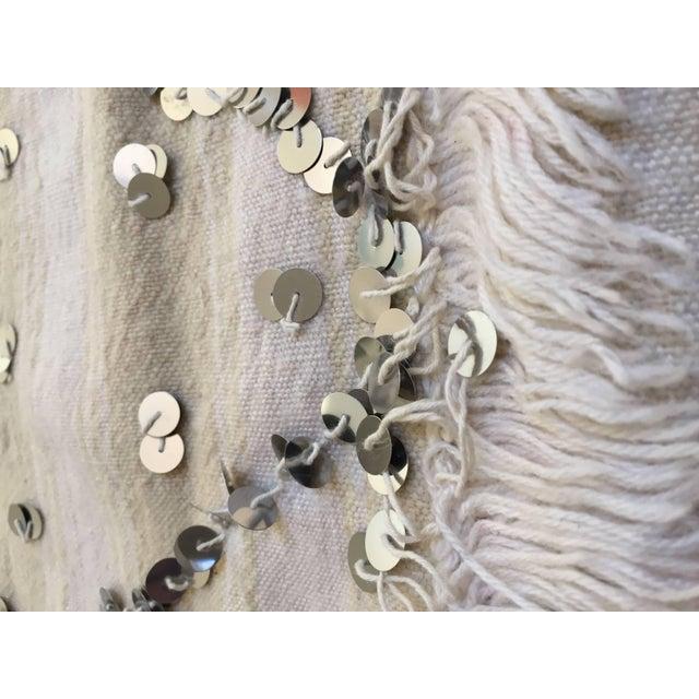 Cotton Moroccan Wedding Berber Blanket For Sale - Image 7 of 10