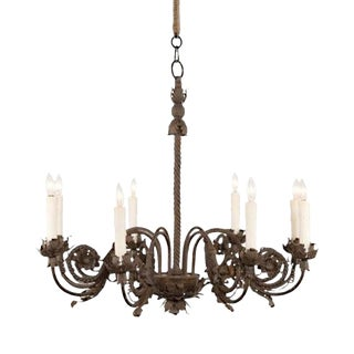 Italianate Ferronnerie Chandelier, 8 Light For Sale