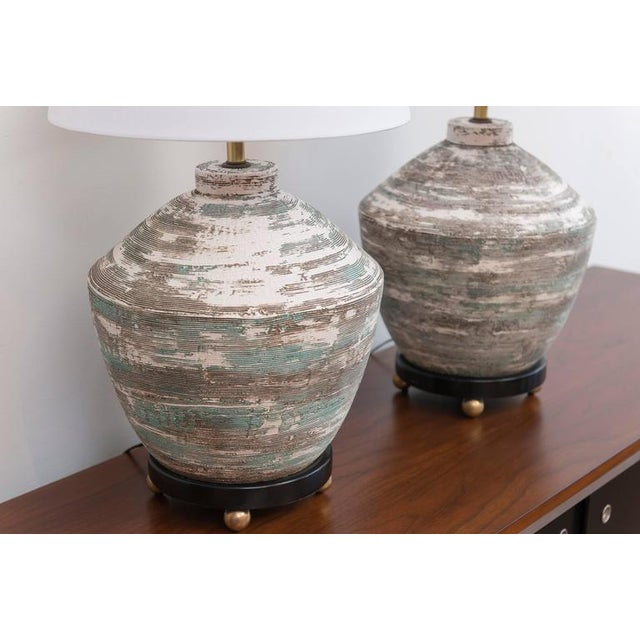 1950s Ceramic Lamps - A Pair For Sale - Image 4 of 8
