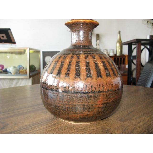 1976 Mid-Century Pottery Vase For Sale - Image 11 of 11