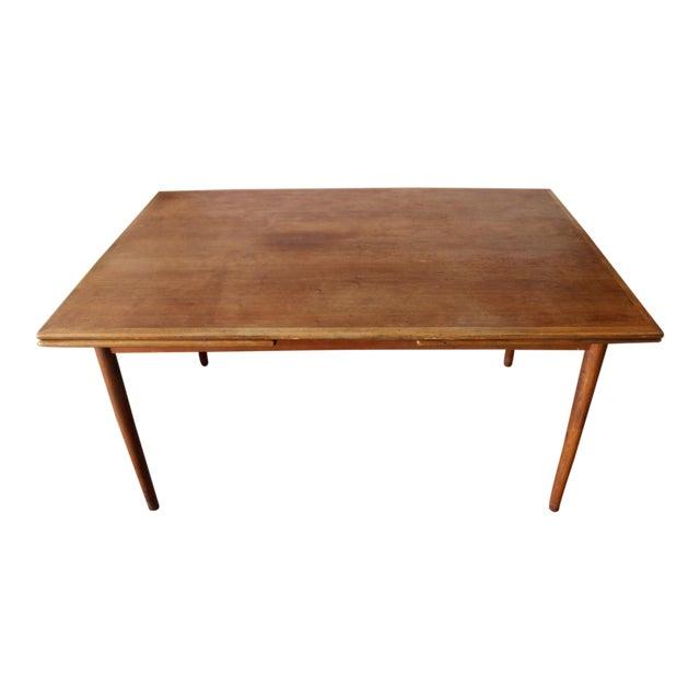 1960's Mid Century Modern Teak Extending Dining Table For Sale
