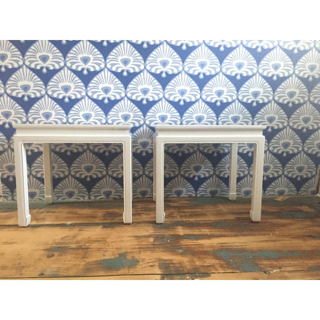 """Chinoiserie """"Ming"""" Style Pair of Side Tables For Sale In Portland, ME - Image 6 of 6"""