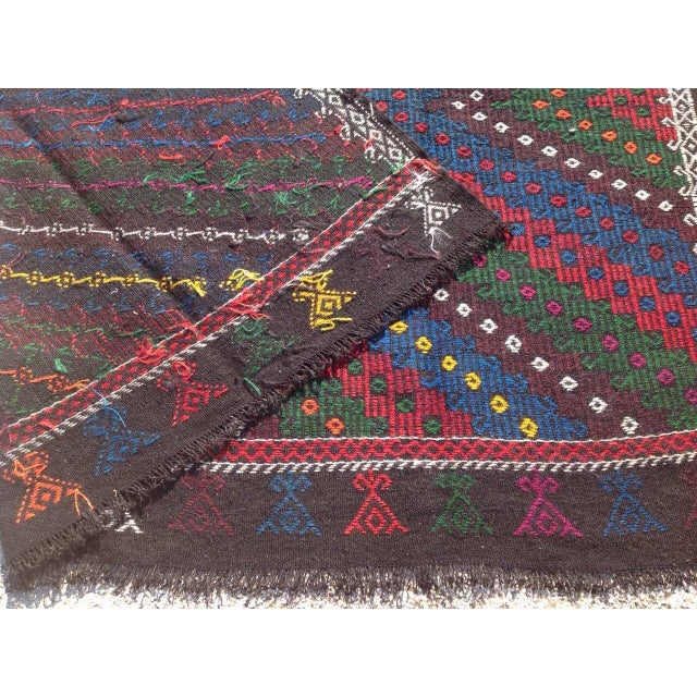 "Vintage Turkish Kilim Rug - 8'4"" x 9'4"" For Sale - Image 7 of 7"