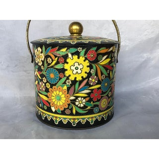 Vintage Floral Embossed Biscuit Tin With Lid Preview
