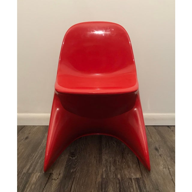 1970s Space Age Casala Casalino Red Stacking Child's Chairs - Set of 4 For Sale - Image 10 of 12
