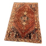Image of 1950s Vintage Persian Qashqai Area Rug - 5′1″ × 8′1″ For Sale