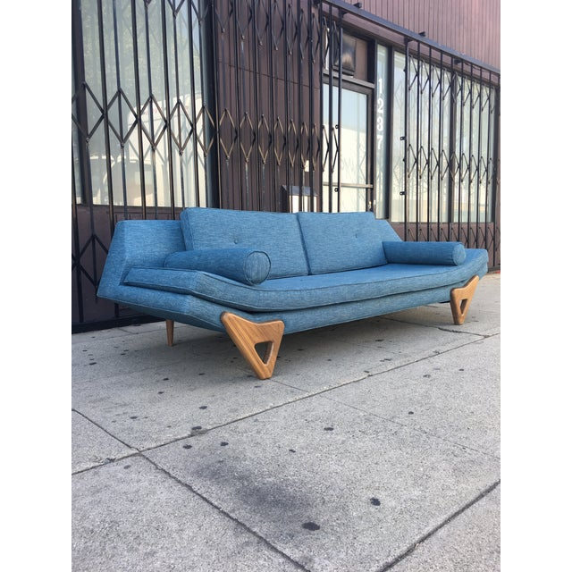 """Adrian Pearsall Adrian Persall Inspired """"Gondola"""" Sofa/ Custom Made For Sale - Image 4 of 12"""