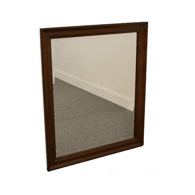 Wood Cresent Solid Cherry Mirror For Sale - Image 7 of 7
