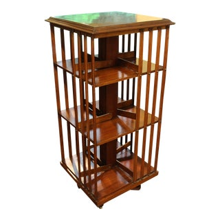 Late 19th Century Mahogany Revolving Bookcase
