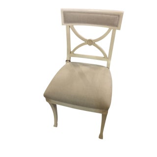 Early 21st Century Vintage Schumacher Westminster Side Chair- Sample For Sale