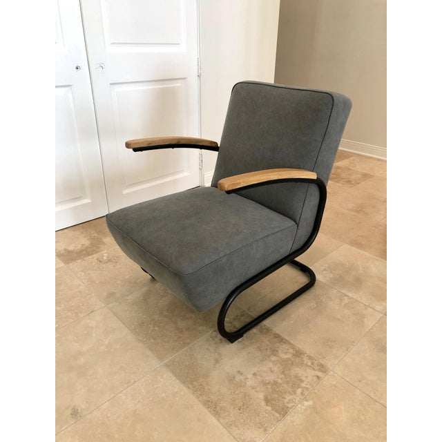 Mid Century Modern Kem Weber Style Springer Accent Chairs- A Pair For Sale In Los Angeles - Image 6 of 7