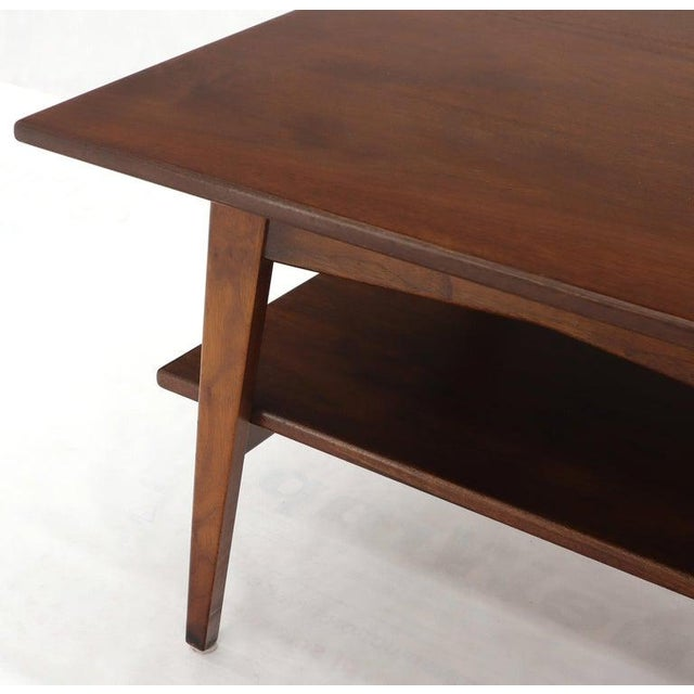Brown Jens Risom Square Occasional Coffee Side Table Oiled Walnut For Sale - Image 8 of 12