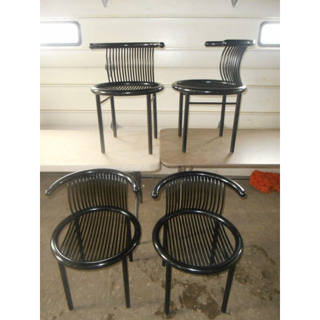 Helmut Lübke & Co. Mid-Century Modern Helmut Lubke & Co. Dining Chairs - Set of 4 For Sale - Image 4 of 8
