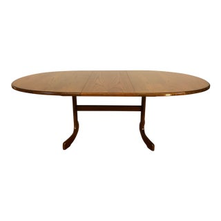 G Plan Mid-Century Teak Oval Dining Table With Butterfly Leaf For Sale