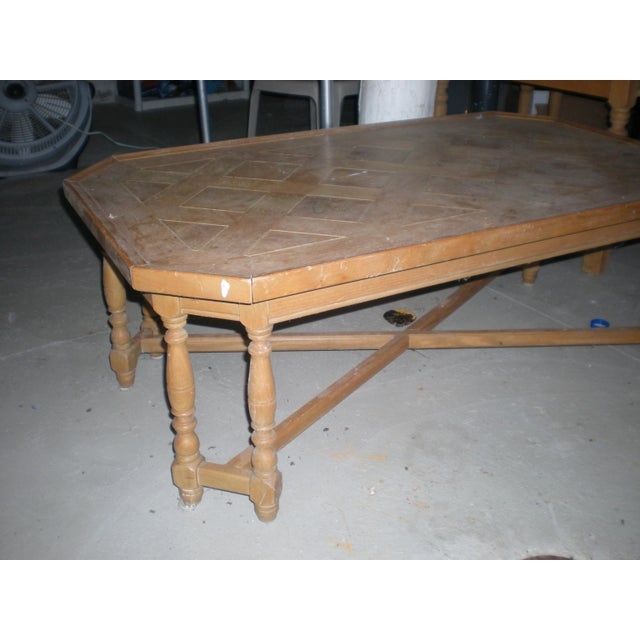 Henredon Rustic country coffee table. I believe it is oak. I don't know much about it, came out of an old mid-century...