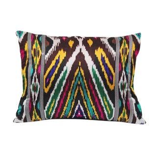 Patterned Silk Ikat Pillow
