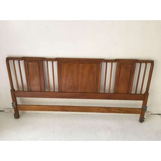 "Midcentury Modern Cherry Wood Kingsize Headboard, Makers mark reads ""John Widdicomb"" in excellent condition. Dimensions:..."