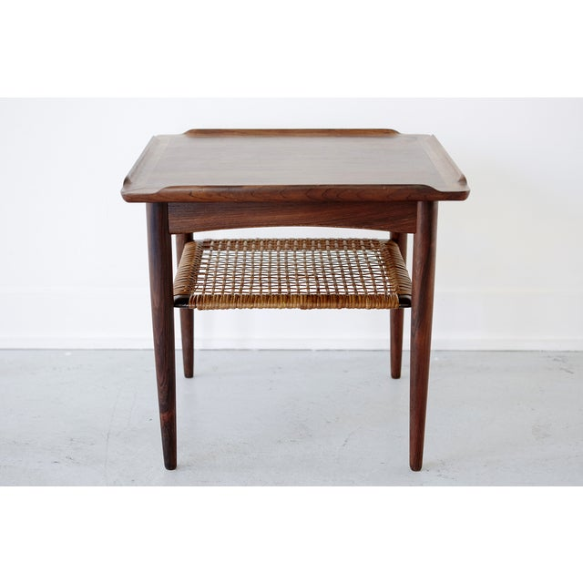 Poul Jensen Rosewood & Cane Side Table - Image 3 of 7