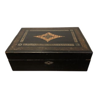 19th Century Traditional Lap Desk Box For Sale