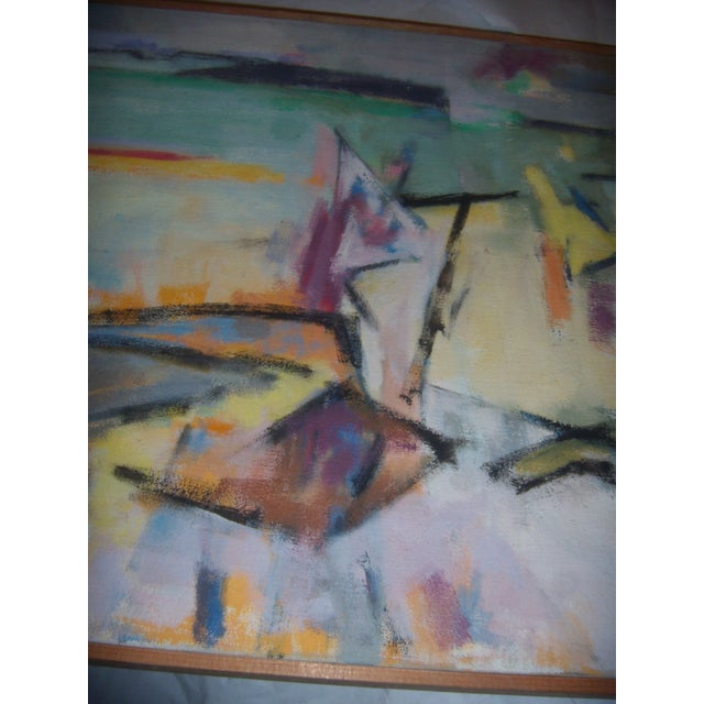 Signed 1961 Jean Young Abstract Painting - Image 5 of 11