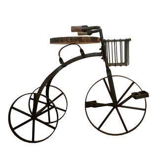"""Tricycle"" Iron & Wooden Side Table"