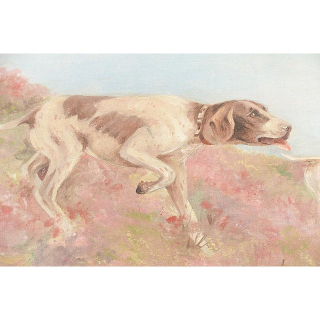 Hunting Hounds Oil Painting by L. Chantrelle For Sale - Image 5 of 8