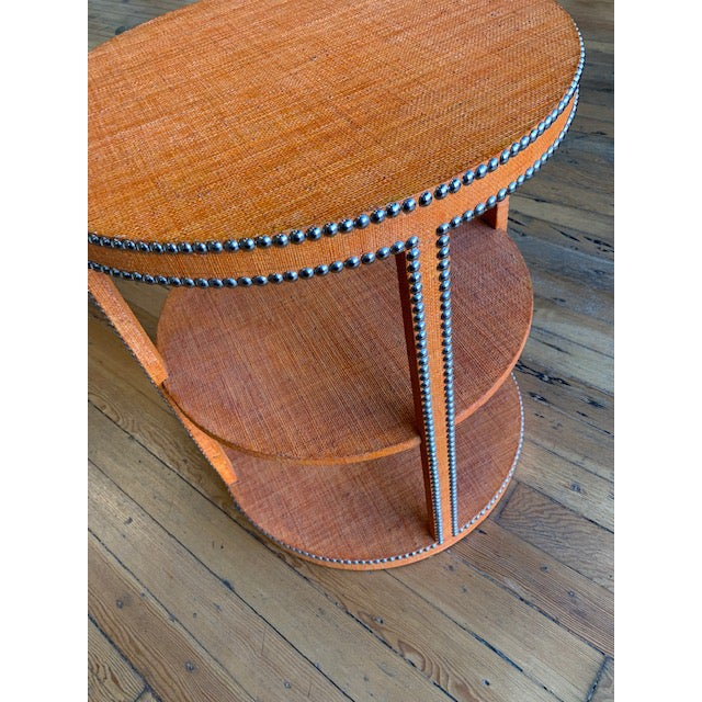 Asian Boho Chic Curate Home Round Tier Table For Sale - Image 3 of 6