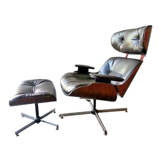 Vintage Original 60's Plycraft Eames Chair and Ottoman For Sale