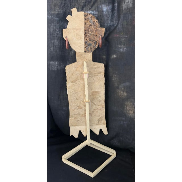 1970s Vintage Inlay Marble Sculpture For Sale In Miami - Image 6 of 8