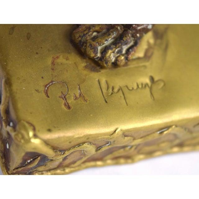 Brass Pal Kepenyes Modernist Brutalist Brass Lion Sculpture Mexican Hungarian Artist For Sale - Image 8 of 10