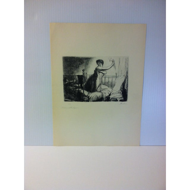 "1930s 1939 Simon & Schuster Famous American Print, ""Turning Out the Lights"" by John Sloan For Sale - Image 5 of 5"