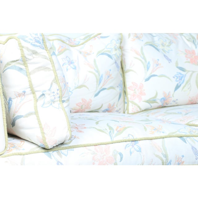 Mid-Century Modern Floral Sofa - Image 10 of 10