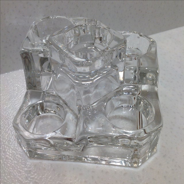 Clear Glass Tea Light Candle Holder - Image 3 of 4