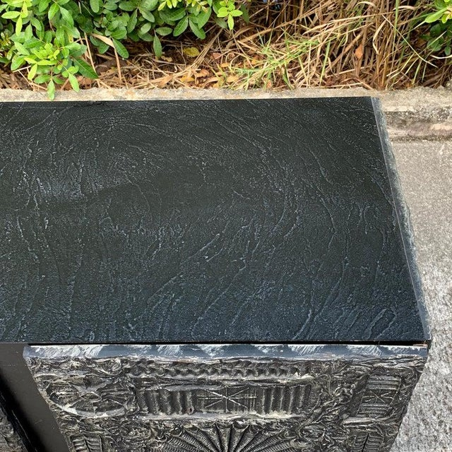 """Black Adrian Pearsall for Craft Associates """"Sculpted Bronze"""" Brutalist Credenza For Sale - Image 8 of 12"""