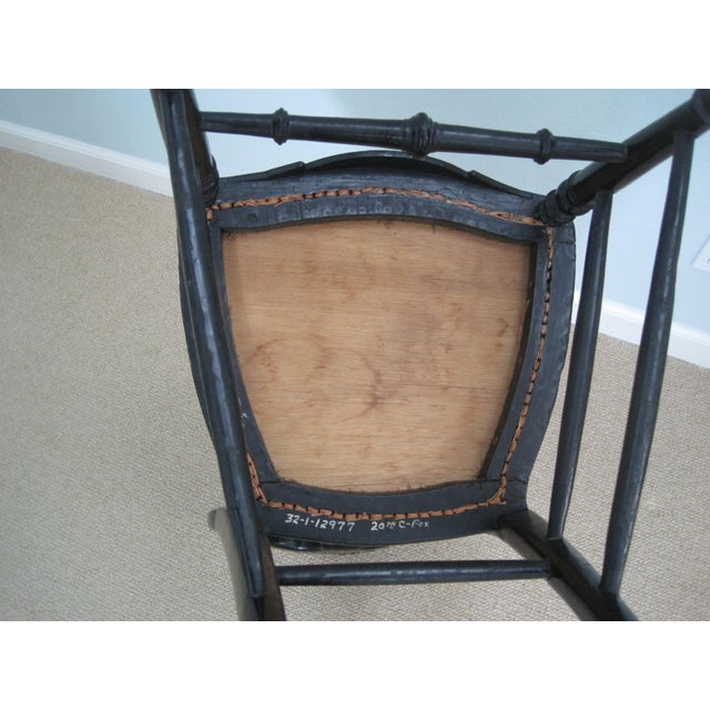 Mid 19th C. Victorian Mother of Pearl Inlay Papier Mache Chair For Sale - Image 10 of 11