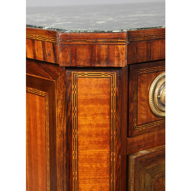 Marble Dutch Neoclassical Satinwood and Japanned Cabinet For Sale - Image 7 of 13