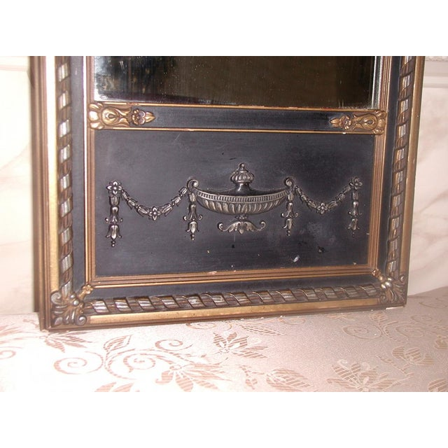 Neoclassical French Gilt Black Etched Mirror - Image 5 of 8