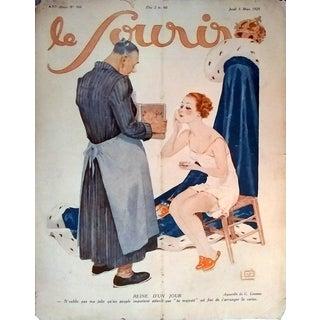 """Leonnec 1928 """"Reine D'Un Jou"""" Le Sourire Print"""