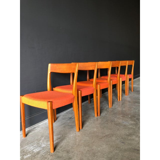 Swedish Teak Dining Chairs For Sale In New York - Image 6 of 9