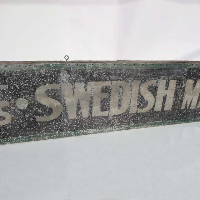 Mid-Century Modern Swedish Massage and Colonics Street Sign For Sale - Image 3 of 5