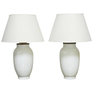 Blanc de Chine Baluster Form Table Lamps - A Pair