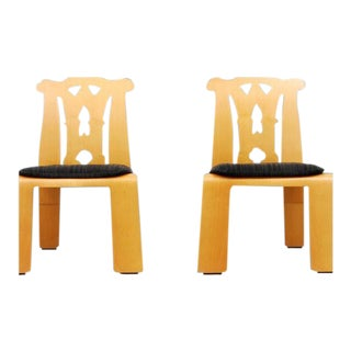 1980s Chippendale Robert Venturi Side Chairs - a Pair For Sale