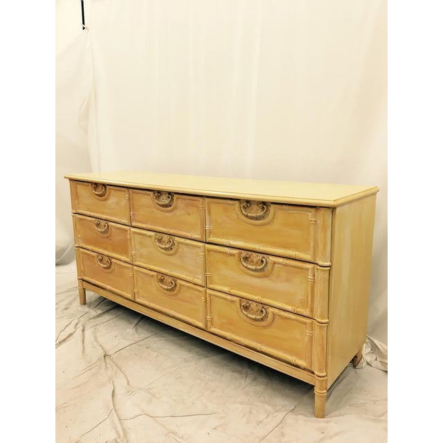 Boho Chic Vintage Bamboo Dresser by Bassett For Sale - Image 3 of 9