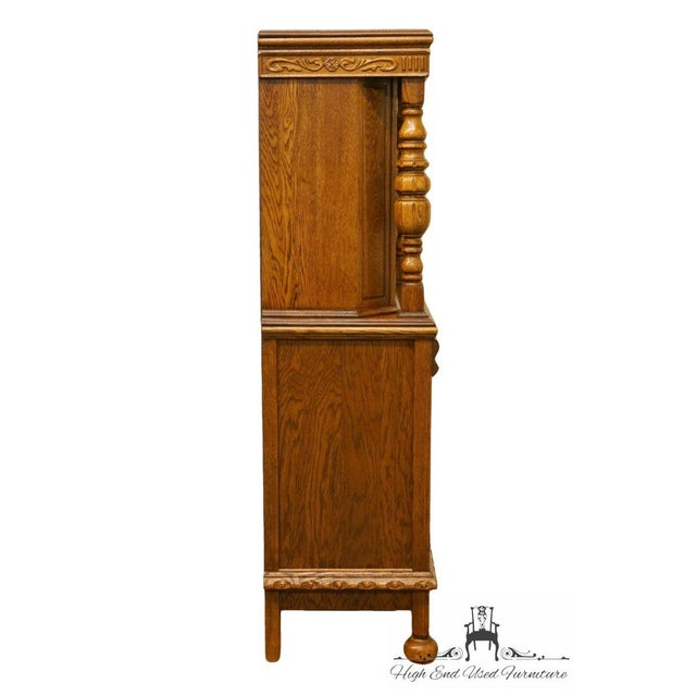 1920's Antique Jacobean Gothic Revival Solid Oak Cupboard For Sale - Image 11 of 13