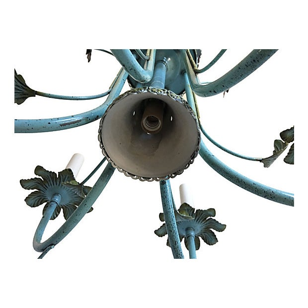 Mid-Century Italian Floral Chandelier For Sale In Austin - Image 6 of 8